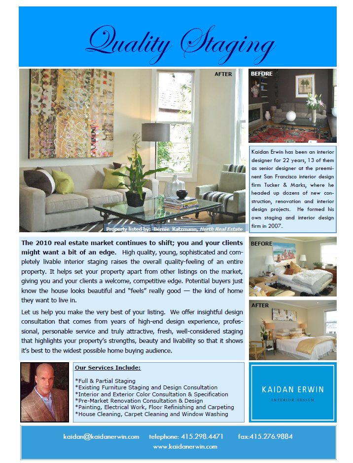 Home Staging, Interior Design, Color Consultation, San Francisco, Bay Area,  Kaidan