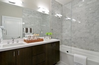 Master Bathroom -  Staging by KEID.