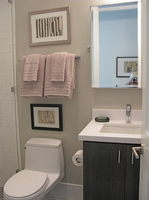 Guest Bathroom -  Staging by KEID.